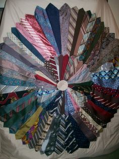 Quilt made out of ties
