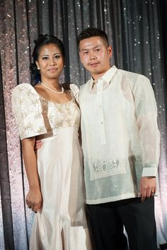 When a special event arrives in the Philippine culture, there is a certain attire many people wear to these events. the women wear a mesitaz, which is a dress with little design. The men wear a barong, a white sheer shirt with elegant embroidery on it. These clothing are different from Muslim attire because Muslim clothing for special events include colorful habjabs and long gowns with colorful designs on them. The men wear long button-down shirts and loose pants. Philippines Culture, Philippines Tourism, Barong Tagalog, Filipiniana Dress, Filipino Fashion, Filipino Culture, Our Wedding Day, Free Wedding, Cultural Identity