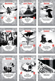 A card game in which demons revolt against the infernal order. First player to overthrow The Devil wins. Game Card Design, Board Game Design, Reference Images, Design Reference, Card Games, Game Cards, Card Creator, Angel Cards, Table Games