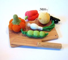 Luty Artes Crochet: Legumes e verduras de crochê