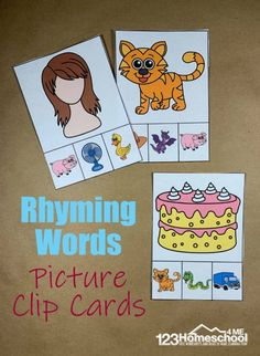 FREE Rhyming Clip Cards with Pictures