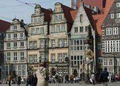 Bremen in Northern German---saw Bremen Town Musicians statue, w/ Oswald & Rosalie, (Hamburg acquaintances)1998