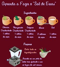 substituição do sal Cooking Tips, Healthy Cooking, Cooking Recipes, Vegan Recipes, Healthy Salads, I Love Food, Good Food, Portuguese Recipes, Diets For Women