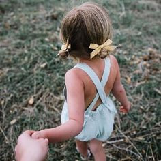 Shop classic pigtail sets by Wunderkin Co. Handmade with love in the USA and guaranteed for life. Perfect for your little girls adventurous style. little girl on an adventure holding mommy's hand Baby Girl Fashion, Toddler Fashion, Kids Fashion, Fashion Outfits, Cute Kids, Cute Babies, Baby Kids, Cute Little Girls, Fotografia Social