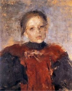 Olga Boznańska, Portrait of a girl, 1896
