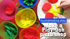 Make a Play-Doh pizza shop!