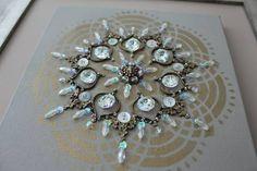 Mandala Bronze/Cristal - Pequena