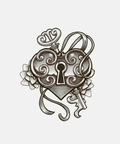 how to draw a heart locket - Google Search