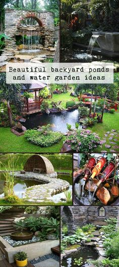 Beautiful backyard ponds and water garden ideas #GardenWater