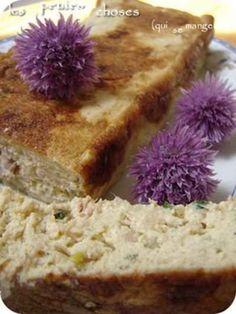 """750g vous propose la recette """"Terrine au tofu soyeux, thon, échalote et ciboulette"""" notée 4/5 par 9 votants."""
