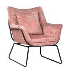Fotel Hamar (różowy) Scandi&Me Outdoor Chairs, Outdoor Furniture, Outdoor Decor, Velvet Armchair, Single Piece, Modern, Interior, Armchairs, Design