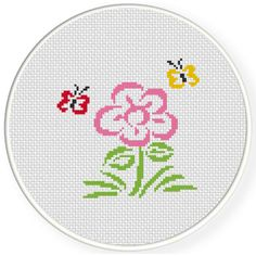 FREE for Sept 8th 2016 Only - A Flower And Butterflies Cross Stitch Pattern