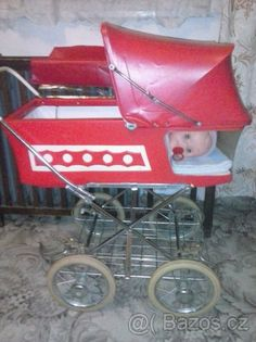 retro kocarek pro panenky,retro hracky,retro panenky Retro Party, Retro Toys, Doll Furniture, Petra, Baby Strollers, Retro Vintage, Childhood, Memories, Dolls