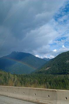 Rainbow on the Trans Canada Highway Trans Canada Highway, Rainbow, Mountains, Nature, Travel, Rainbows, Naturaleza, Rain Bow, Viajes