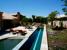 luxury southwest pool and patio design.   build your own pool