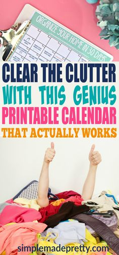 I was feeling overwhelmed when it came to decluttering and home organization until I found this calendar to organize my home in only 30 days! This guide helped me simplify the process and we were able to minimize and reduce the stuff in our small home.  via @SMPblog