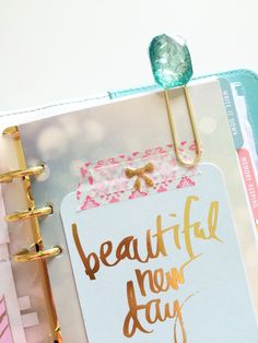 A personal favorite from my Etsy shop https://www.etsy.com/listing/229197089/planner-paperclip-handmade-jewel-clip