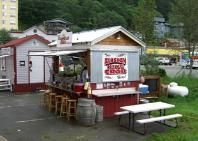 delicious crab bisque from Tracy's Crab Shack, Juneau AK