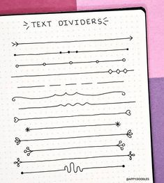76 Bullet Journal Dividers That'll Add Infinite Cuteness To Your Bujo - Wellella