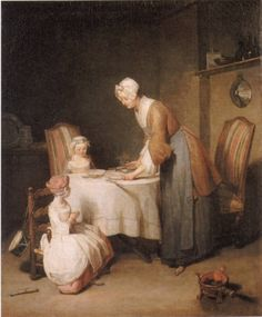 ジャン・シメオン・シャルダン「食前の祈り」  Jean-Baptiste Siméon Chardin  Das Tischgebet