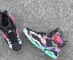 various colors bdcc8 70627 Aztec Youth Big Boys Air Jordan 6 Customs Low Grass Green Black Kevin  Durant Shoes,