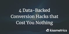 Thankfully, there are a few data-backed conversion hacks you can implement that are sure to get you a better conversion rate.  Here's four of them.