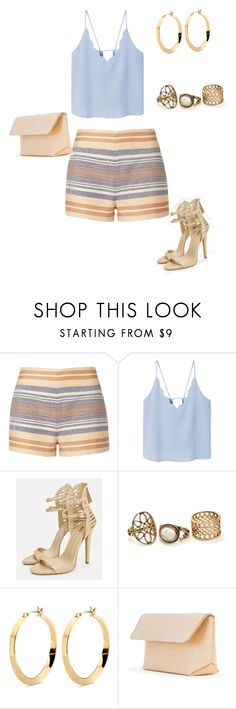 """Dinner with the girls"" by gretandunn ❤ liked on Polyvore featuring Solid & Striped, MANGO, JustFab and Iala Díez"