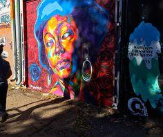 Street art in the RiNo art district of Denver