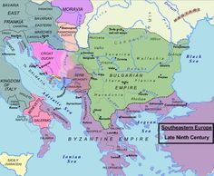Central and Southeastern Europe around 850 / Közép- és Délkelet-Európa
