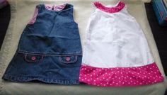 Lot of 2 Sleeveless Toddler Girl Casual Dresses Size 2T #SonomaOldNavy #Casual