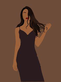 Digital Illustration/ Custom Illustration / Digital Portrait/ Minimal illustration Fashion Illustration Sketches, Illustration Girl, Portrait Illustration, Digital Illustration, Digital Art Girl, Digital Portrait, Pretty Art, Cute Art, Abstract Face Art