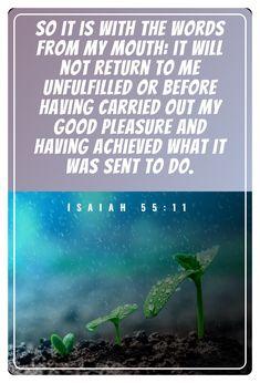 Isaiah 55:11 Isaiah 55 11, Book Of Isaiah, I Am Awesome, Words, Horse