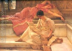 The Favourite Poet 1888 by Sir Lawrence Alma-Tadema
