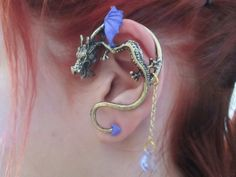 Hey, I found this really awesome Etsy listing at https://www.etsy.com/listing/196045687/purple-wing-ear-cuff-dragon-with-purple