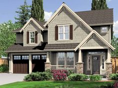 Craftsman House Plan with 2470 Square Feet and 4 Bedrooms from Dream Home Source | House Plan Code DHSW70388