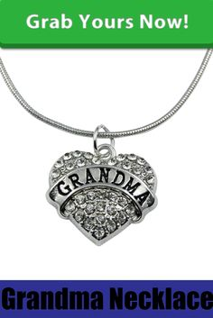 Grandma Crystal heart necklace http://zapbest.com/collections/grandma/products/proud-grandma-necklace This ia a trendy Necklace made of zinc alloy metal..The chain is 45 CM Long.