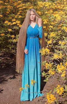 Long beautiful hair  #Rapunzel #long hair #fixation
