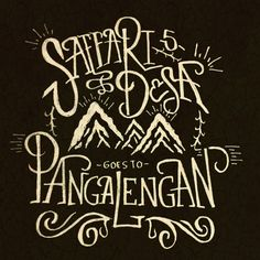 Hand lettering for Saffari Desa 5 from Kita Indonesia Community. #lettering
