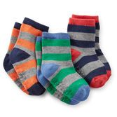 Broad bright stripes make these socks extra cool. Whether he's playing or studying, your little sport will look cute!