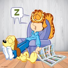 Off to bed I is. Garfield Cartoon, Garfield And Odie, Garfield Comics, Garfield Quotes, Cartoon Tv Shows, Cartoon Characters, Funny Cartoons, Funny Comics, Garfield Birthday