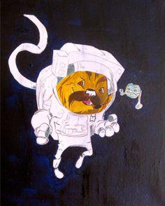 Turbo astronaut #art #paintings #books #tv #kids #cartoon #animation #zaquelinesouras #turbo #turboshouse #watercolors #penandink #education #inspiration