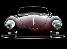 Porsche 356 B cabriolet in maroon Porsche Classic, Classic Sports Cars, Classic Cars, Shelby Mustang, Vintage Porsche, Vintage Cars, Bmw Sedan, Bmw R100 Scrambler, Automobile