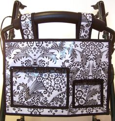 Walker bag (or for back of wheelchair/scooter) Very classy and made of oilcloth, so durable too