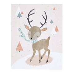 Winter Deer  | The Land of Nod - to swap out her bunny art for this during winter