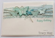 Stampin' Up! UK - Watercolour Backgrounds. Butterfly punch, En Français, Express Yourself
