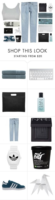 """""""WE WERE JUST KIDS WHEN WE FELL IN LOVE"""" by xilahax ❤ liked on Polyvore featuring Linum Home Textiles, NARS Cosmetics, Dolce&Gabbana, adidas, adidas Originals, Hermès and Topshop"""