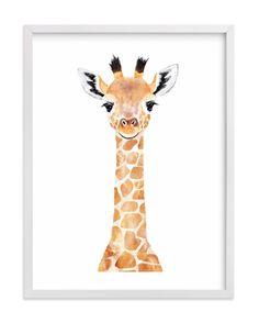 """Baby Giraffe - Kids Open Edition Non-custom Art Print by Cass Loh. - BettiS - ""Baby Giraffe - Kids Open Edition Non-custom Art Print by Cass Loh. Baby Giraffe 2 Wall Art Prints by Cass Loh Giraffe Painting, Giraffe Art, Cute Giraffe Drawing, Baby Wall Art, Art Wall Kids, Art Kids, Animal Paintings, Animal Drawings, Baby Prints"
