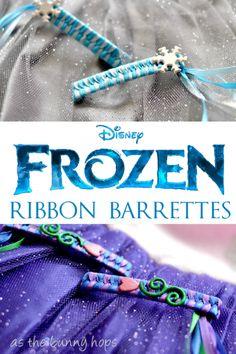 Disney Frozen Ribbon Barrettes #FROZENFun #shop