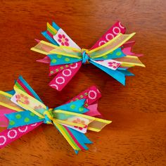 Spring hair clips I made;)