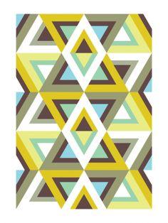 Pattern for Futurist Beatniks (Art Print, 2012) // Gary Andrew Clarke